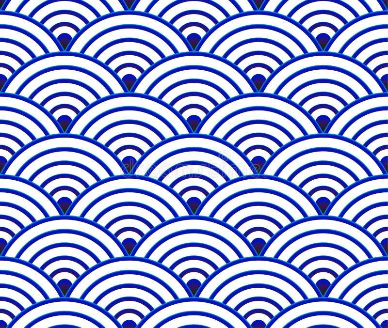 Chinees naadloos patroon stock illustratie