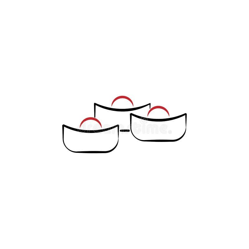 Chinees nieuw jaar, maan, snoepjespictogram Kan voor Web, embleem, mobiele toepassing, UI, UX worden gebruikt vector illustratie