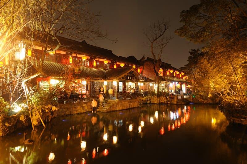 Chinees nieuw jaar in oude straat Jinli royalty-vrije stock afbeeldingen