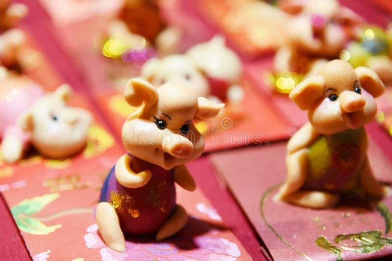 Chinees nieuw jaars varken stock afbeelding