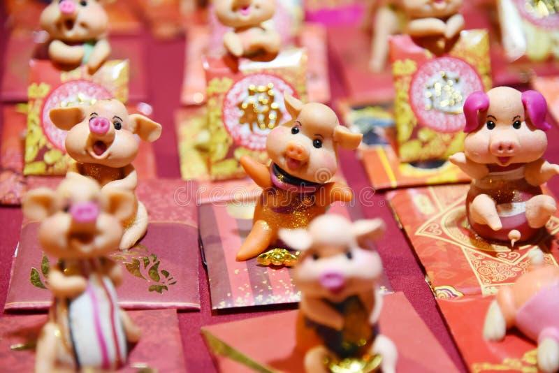 Chinees nieuw jaars varken stock afbeeldingen