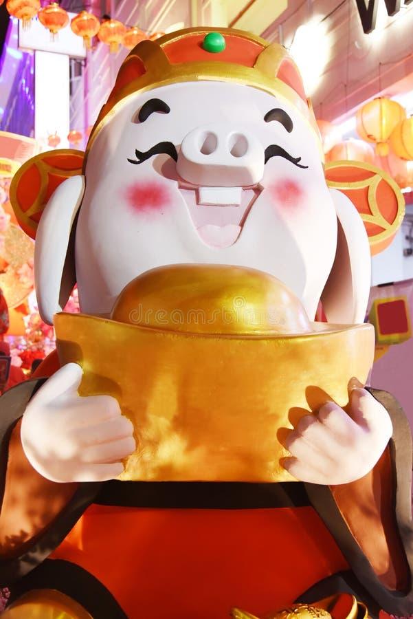 Chinees nieuw jaars varken royalty-vrije stock afbeelding