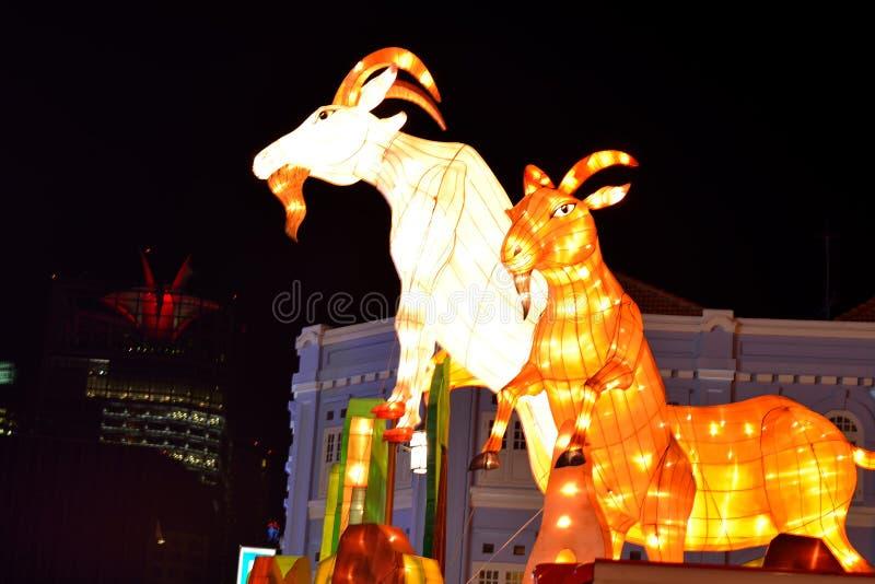 Chinees Nieuwjaar met geit-als thema gehade decoratie royalty-vrije stock foto's