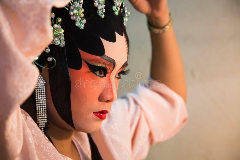 Chinees operagezicht royalty-vrije stock fotografie