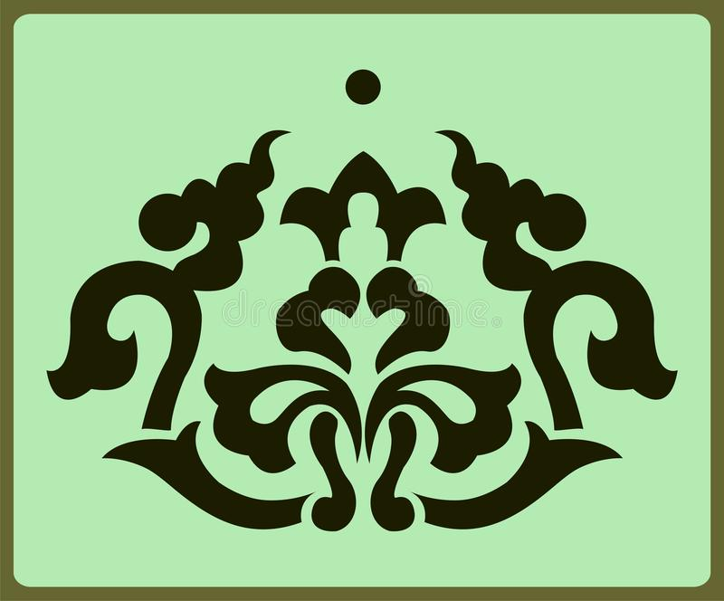 Chinees ornament stock illustratie