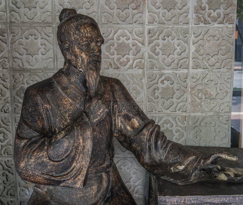 Chinees oud mensenstandbeeld stock afbeeldingen