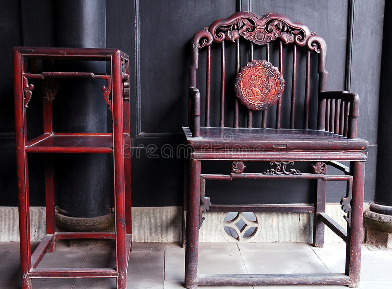 Chinees oud meubilair royalty-vrije stock fotografie