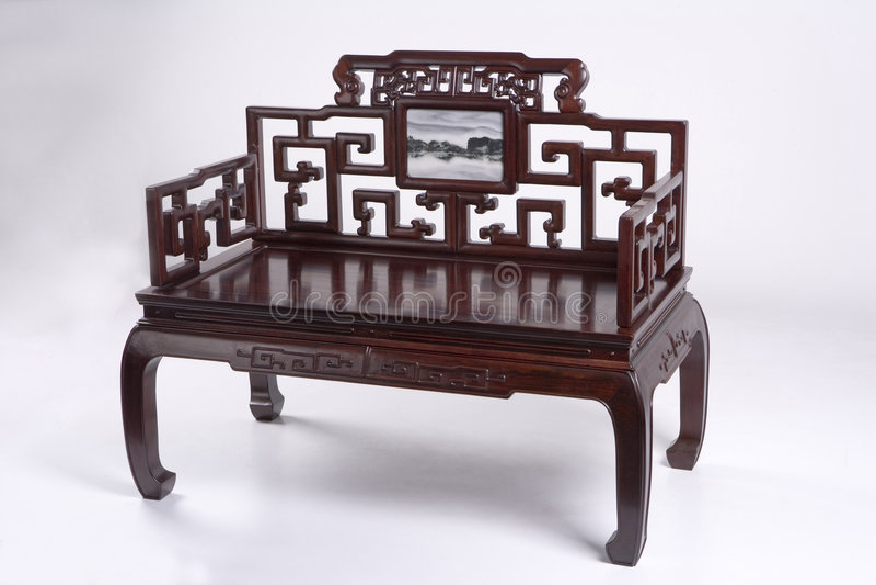 Chinees Oud Meubilair stock afbeelding