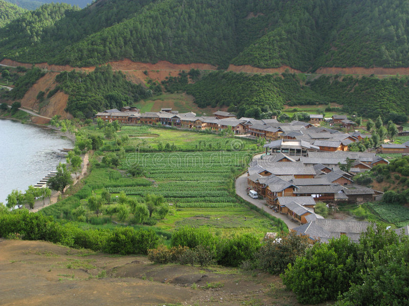 Chinees platteland royalty-vrije stock foto