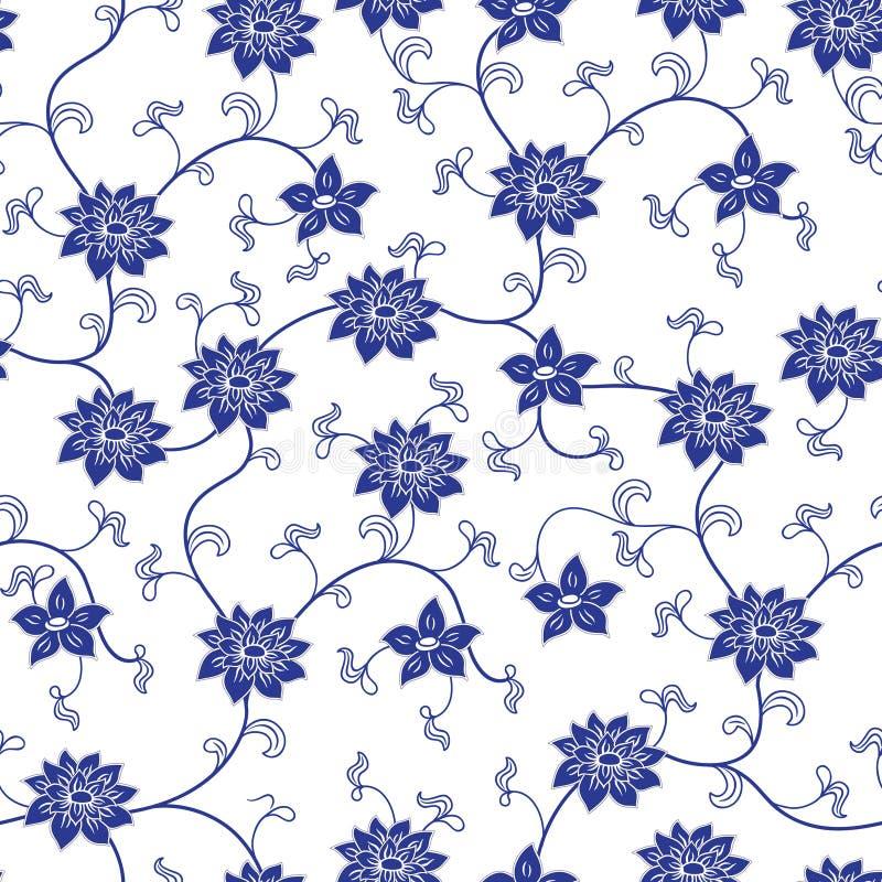 Chinees porselein naadloos patroon vector illustratie
