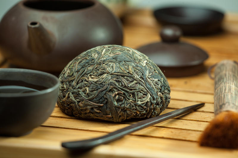 Chinees shen puer thee royalty-vrije stock afbeelding