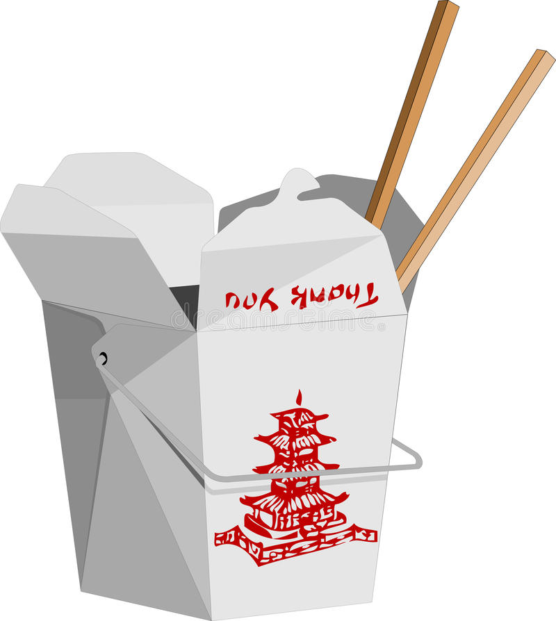 Chinees snel voedsel stock illustratie