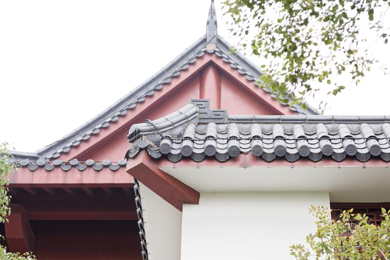 Chinees stijl de bouwdak stock fotografie