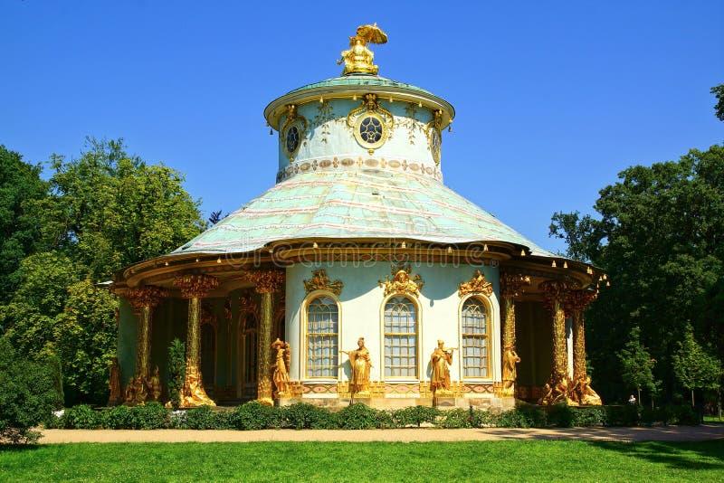 Chinees theehuis. Het Paleis van Sanssouci, Potsdam stock afbeeldingen
