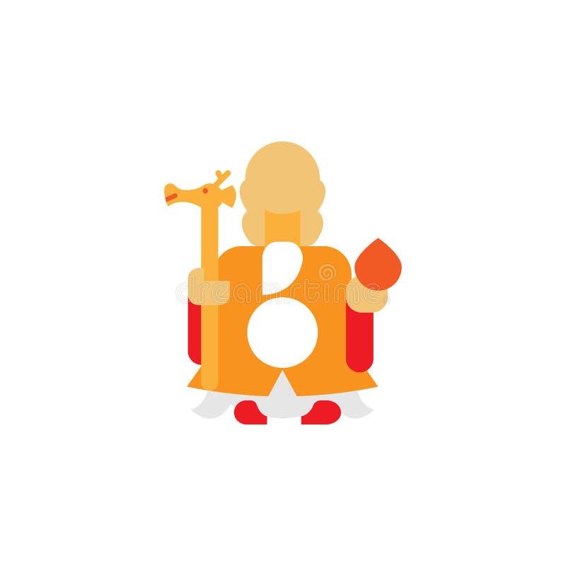 Chinees traditioneel, gelukkig pictogram Element van Chinese traditionele illustratie Grafisch het ontwerppictogram van de premie royalty-vrije illustratie