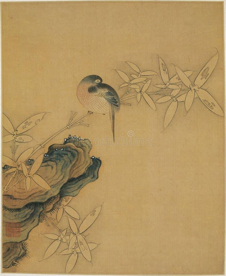 Chinees traditioneel het schilderen dier stock afbeeldingen