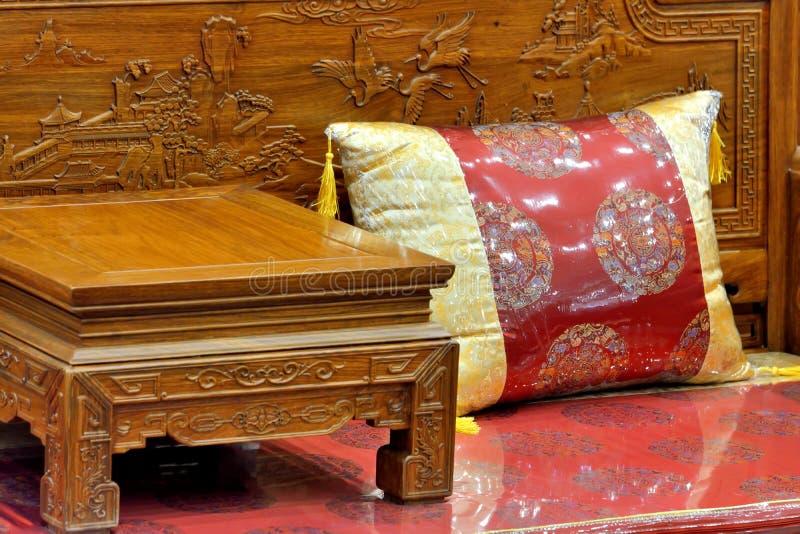 Chinees traditioneel meubilair stock foto's