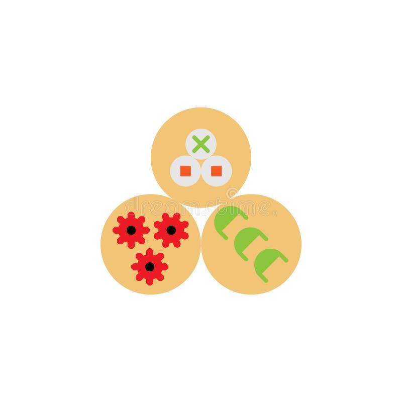 Chinees traditioneel, schemerig SAM-pictogram Element van Chinese traditionele illustratie Grafisch het ontwerppictogram van de p vector illustratie
