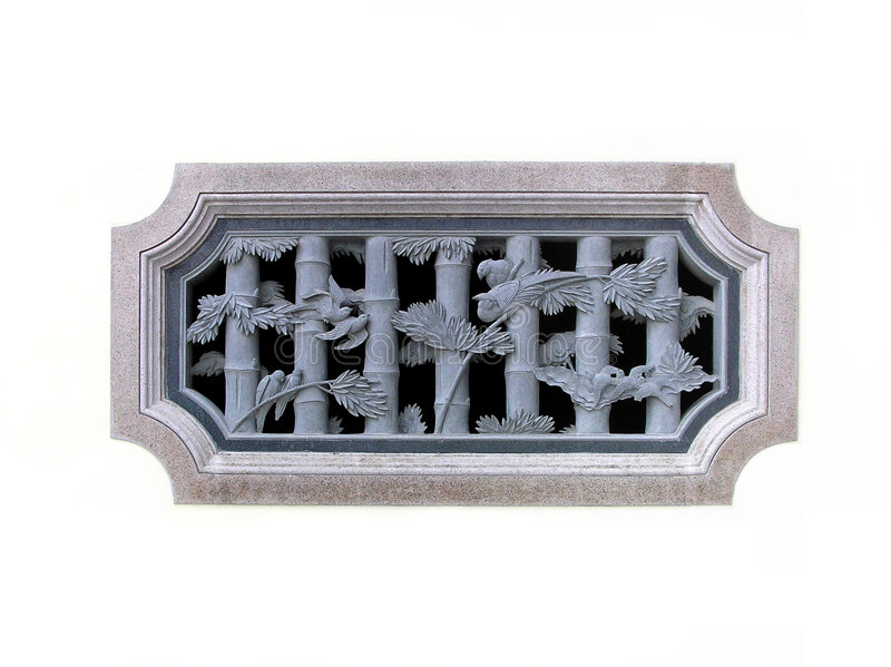 Chinees traditioneel steen gesneden venster royalty-vrije stock foto