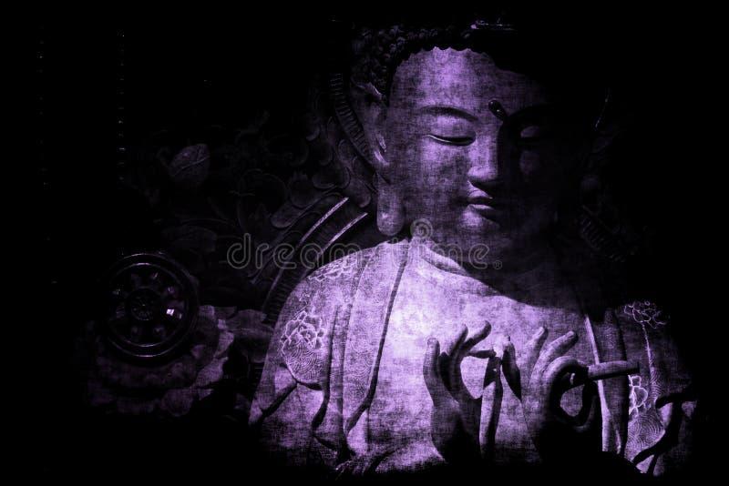 Chinees van de Tempel Abstract Behang Als achtergrond stock illustratie
