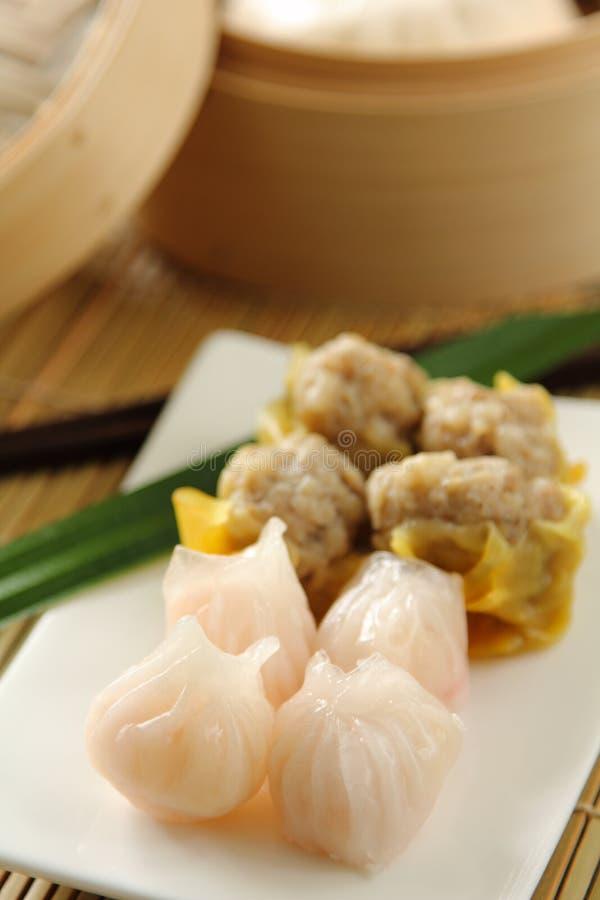 Chinees voedsel [Dimsum of buncha] stock foto