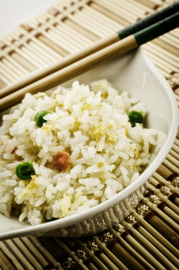 Chinees voedsel, Kantonese rijst royalty-vrije stock afbeeldingen
