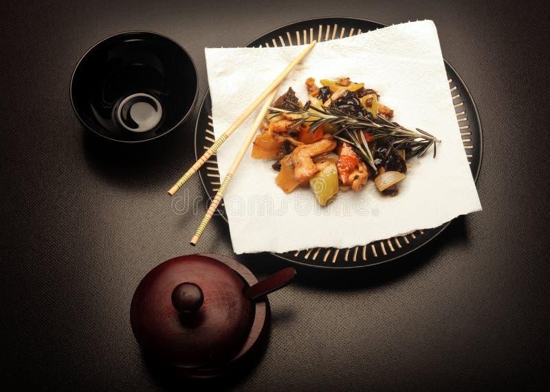 Chinees voedsel - kip Szechuan royalty-vrije stock fotografie