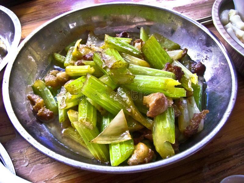 Chinees Voedsel: selderievlees stock afbeelding
