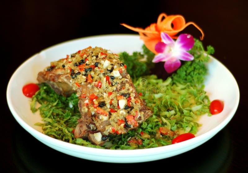 Chinees voedsel: varkenskoteletten stock afbeeldingen