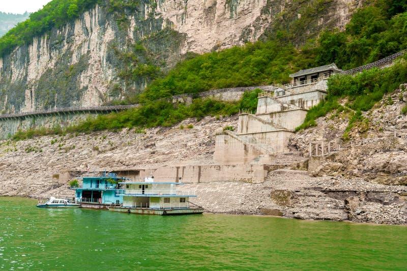 Chinees vrachtschip stock foto's