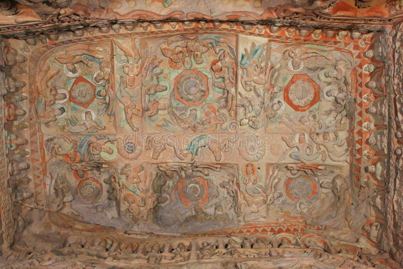 Chinees Yungang-rotshol royalty-vrije stock afbeeldingen