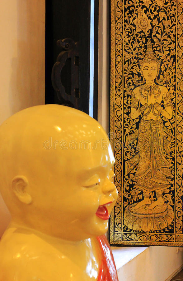 Chineese buddist temple - details of interior royalty free stock photography