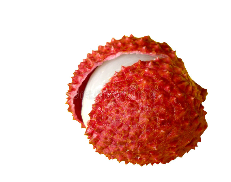 Chinensis lychee (litchi) royalty-vrije stock foto's