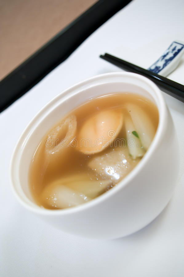 Chinese Abalone Soup stock photo