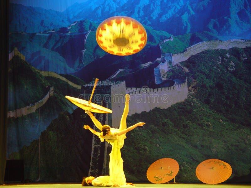 Chinese Acrobaten royalty-vrije stock foto