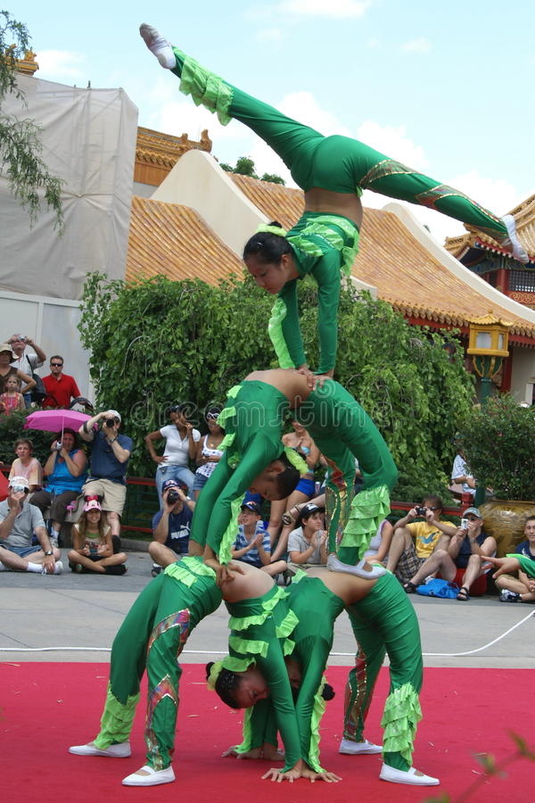 Chinese Acrobats stock photo