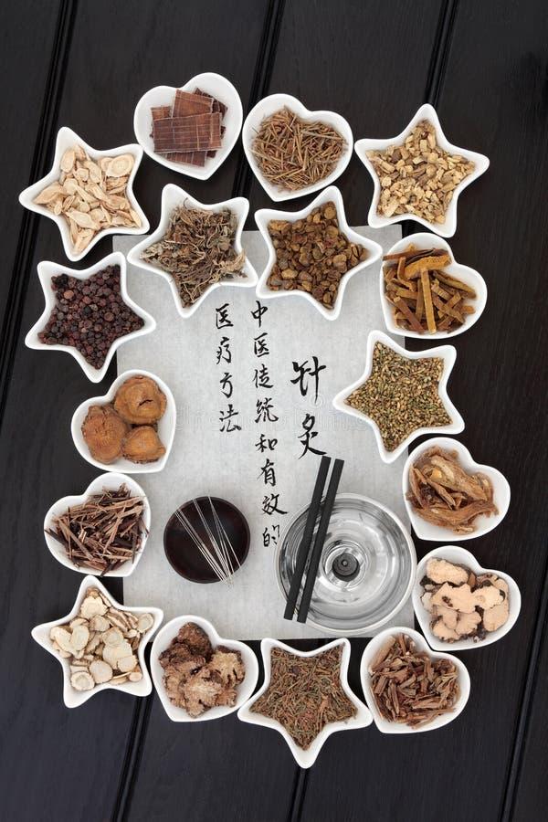 Chinese Acupunctuurgeneeskunde royalty-vrije stock foto