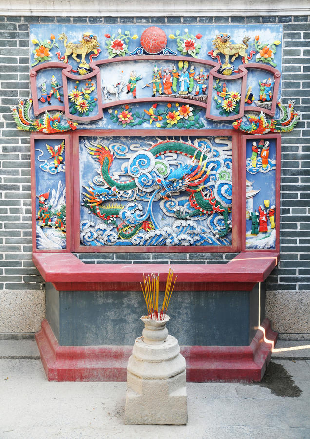 Chinese altar stock photos