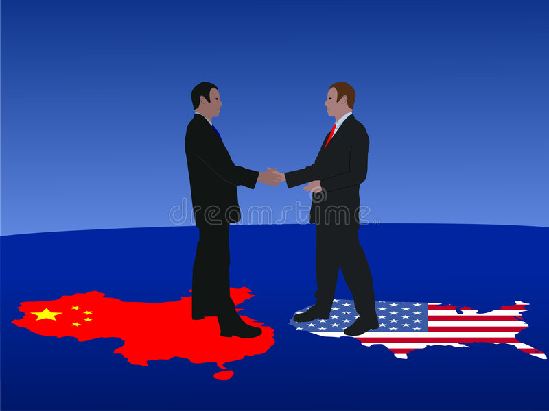 Download Chinese American meeting stock vector. Image of commerce - 6498213