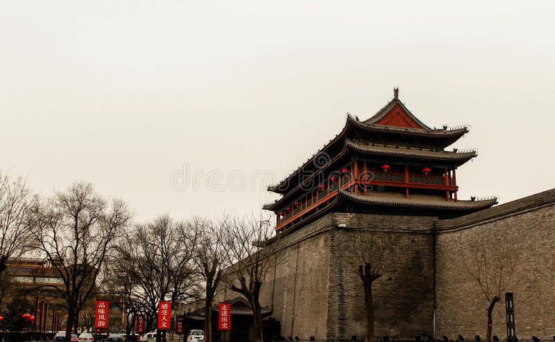Chinese ancient buildings. Typical Chinese ancient buildings in Xian China royalty free stock image