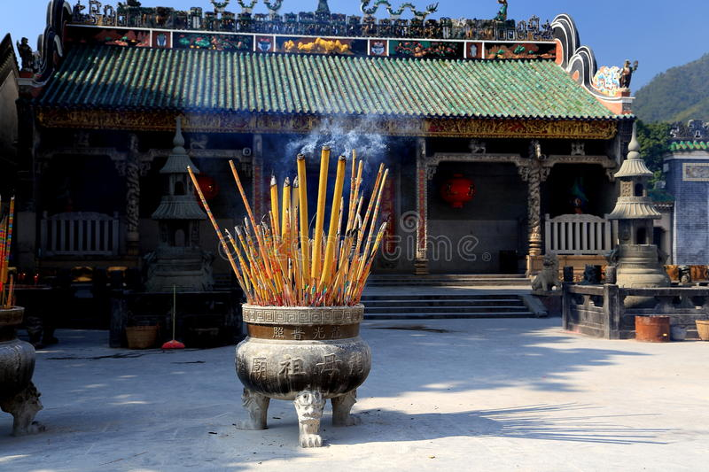Chinese ancient dragon mother temple, Longmu temple stock photo
