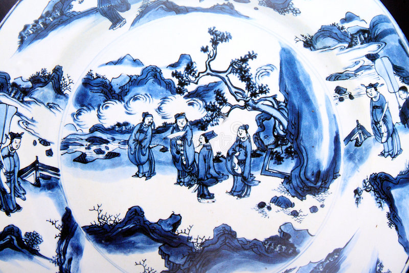 Chinese ancient painting stock image