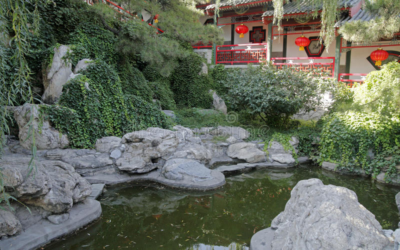 Chinese ancient royal garden. royalty free stock photos