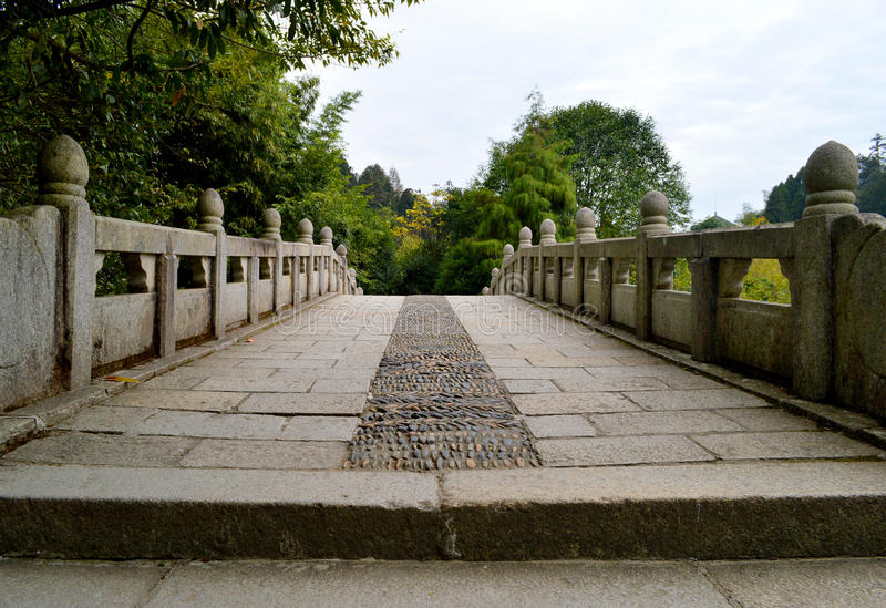 Chinese ancient stone bridge royalty free stock photos