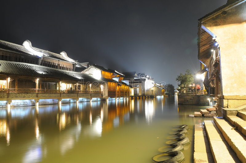 Download Chinese Ancient Watery Town Stock Photo - Image: 7281434