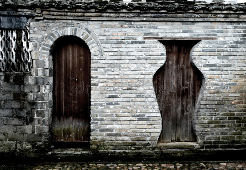 Chinese ancient wooden doors royalty free stock photography