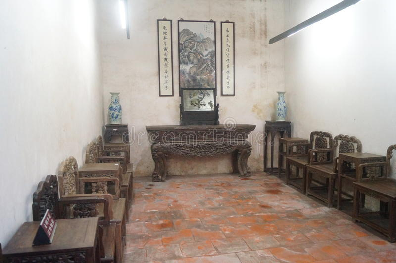 Chinese ancient wooden furniture royalty free stock image