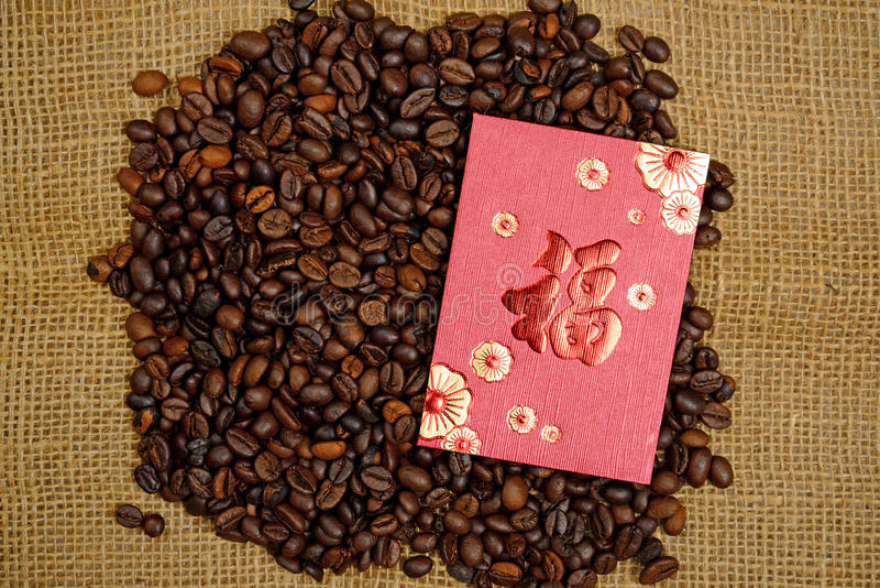 Download Chinese Ang Pao And Coffee Bean Stock Image - Image: 36931241