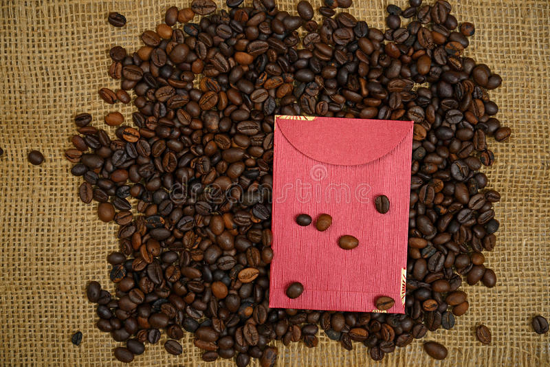 Download Chinese Ang Pao And Coffee Bean Stock Photo - Image: 36931252