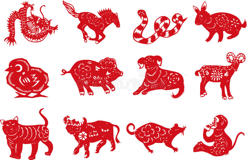 Chinese Animal Paper Cut Stock Vector Illustration Of Oriental